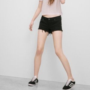 Black Talula Aritzia Distressed Jean Shorts